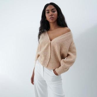 Mohito - Sweter oversize Eco Aware - Beżowy
