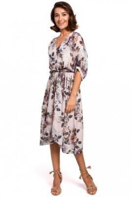Sukienka midi w Kwiaty - Model 1