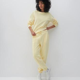 Reserved - Spodnie z dresowej dzianiny - Żółty