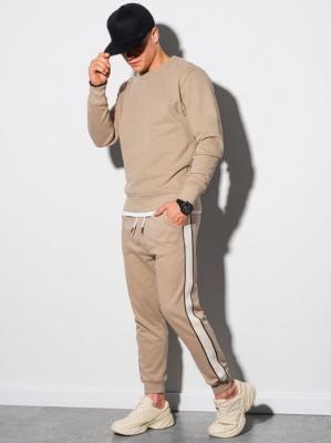 Komplet męski bluza + spodnie Z26 - beżowy - XXL