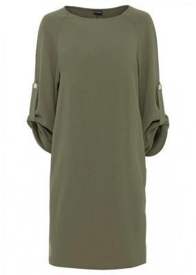 Sukienka oversize z kieszeniami bonprix zielono-oliwkowy