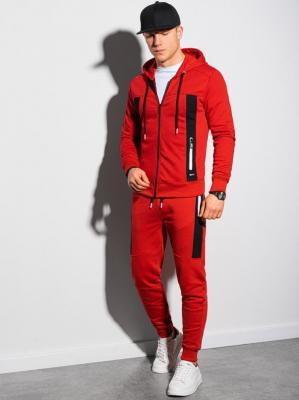 Komplet męski bluza + spodnie Z25 - czerwony - L
