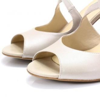 Taneczne sandałki ślub - KOTYL 4325 PERŁOWE