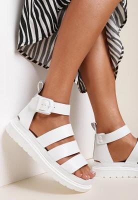 Białe Sandały Amalimene