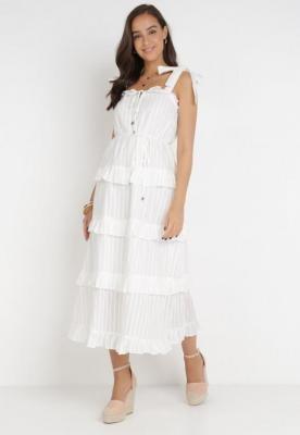 Biała Sukienka Geninoe