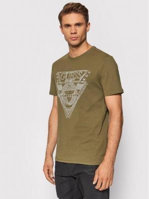 Guess T-Shirt M1YI76 J1311 Zielony Regular Fit