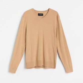 Reserved - Sweter z bawełny organicznej - Brązowy