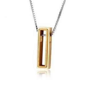 Naszyjnik damski z hipoalergicznej stali, kolor złoty