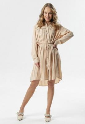 Jasnobeżowa Sukienka Tota