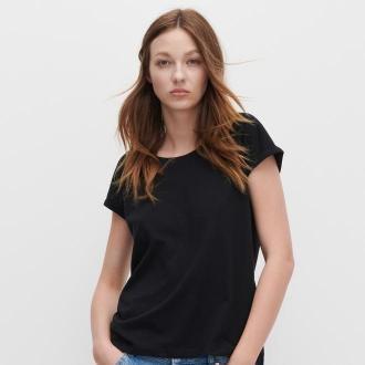Reserved - T-shirt basic z bawełny organicznej - Czarny