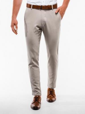 Spodnie męskie chino P832 - beżowe - S