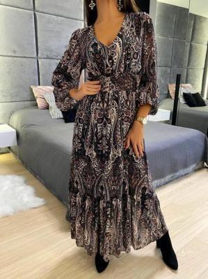Wzorzysta Sukienka Maxi 5180-18