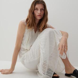 Reserved - Koronkowa sukienka - Biały