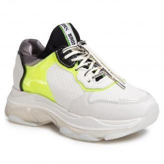 Sneakersy BRONX - 66341-BV Off White/N.Yellow/Blac