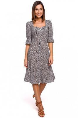Sukienka w Stylu Retro na Guziki - Model 2