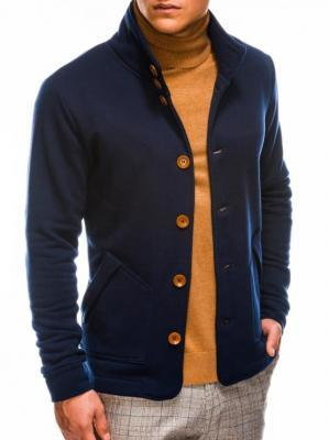 Bluza męska rozpinana bez kaptura CARMELO - granatowa - XL