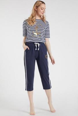 Spodnie od piżamy z lampasami