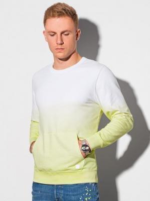 Bluza męska bez kaptura B1150 - limonkowa - XXL
