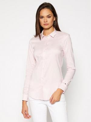 TOMMY HILFIGER Koszula Heritage 1M87647510 Różowy Slim Fit