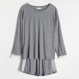 Reserved - Piżama z szortami - Czarny