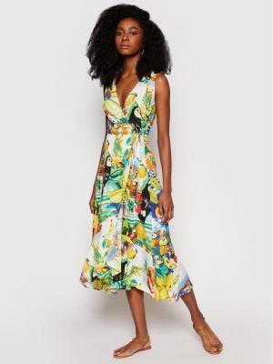 Desigual Sukienka letnia Ibiza 21SWMW05 Kolorowy Regular Fit