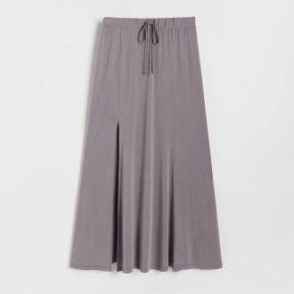 Reserved - Rozkloszowana spódnica midi - Szary