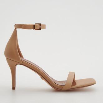 Reserved - Skórzane sandały - Kremowy