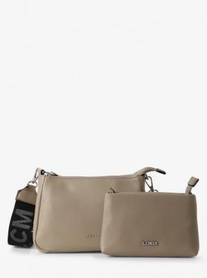 L.Credi - Damska torebka na ramię z wewnętrzną torebką – Hailey, beżowy