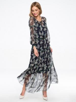 Szyfonowa sukienka maxi w kwiaty Potis & Verso TANGO