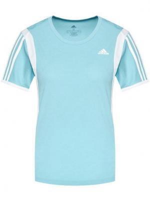 adidas Koszulka techniczna Own The Run 3-Stripes Iteration GK5277 Niebieski Regular Fit