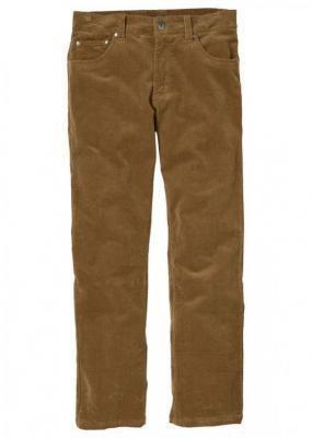 Spodnie sztruksowe Regular Fit Straight bonprix koniakowy