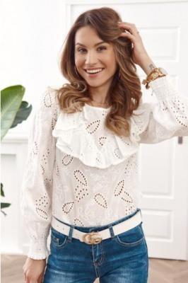 Kremowa bluzka w stylu boho 8802