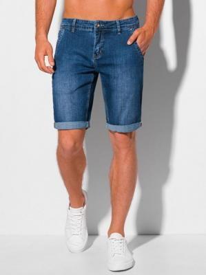Krótkie spodenki męskie jeansowe 349W - niebieskie - 31