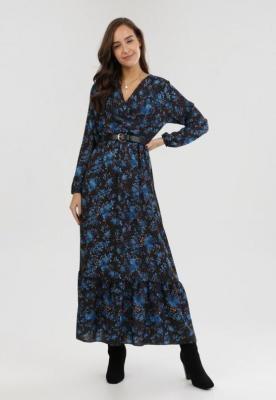 Czarno-Niebieska Sukienka Uanlan