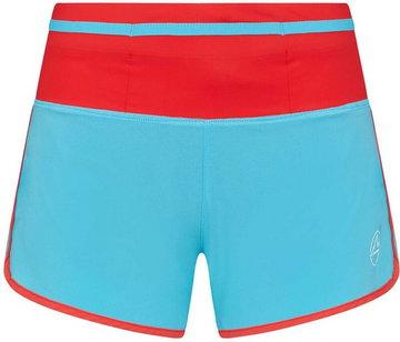 La Sportiva Vector Shorts Women, turkusowy/czerwony S 2021 Szorty do biegania