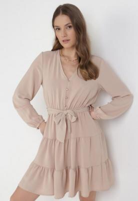 Jasnobeżowa Sukienka Wysnell