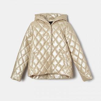 Mohito - Pikowana kurtka z kapturem - Beżowy