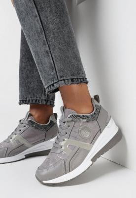 Szare Sneakersy Armaita