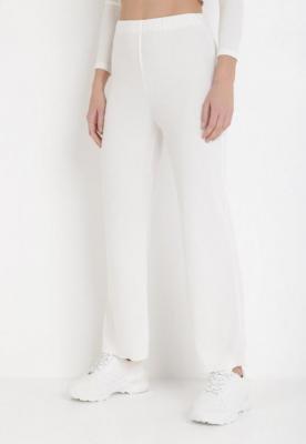 Białe Spodnie Szerokie Anitea