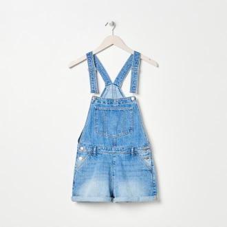 Sinsay - Jeansowe ogrodniczki - Niebieski