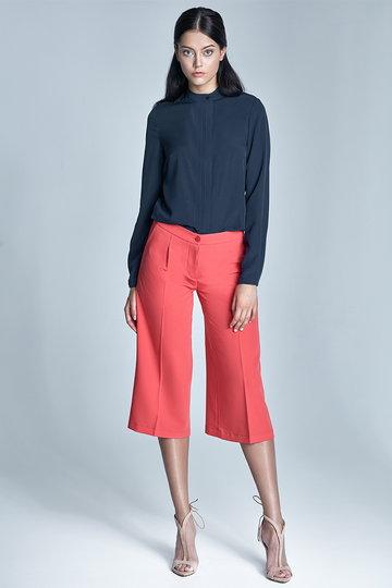 Koralowe spodnie culottes - SD24