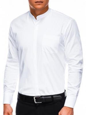 Koszula męska elegancka z długim rękawem K307 - biała - M