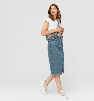 Ołówkowa jeansowa spódniczka
