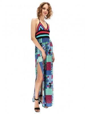 Sukienka maxi z patchworkowym wzorem Desigual NANETTE