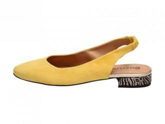 Żółte POLSKIE baleriny damskie SUZANA 4016