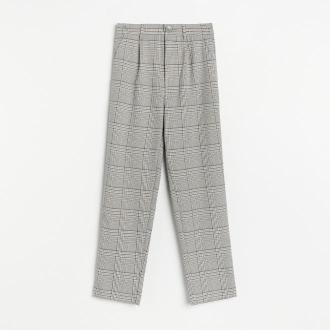 Reserved - Spodnie chino z gumką w pasie - Szary