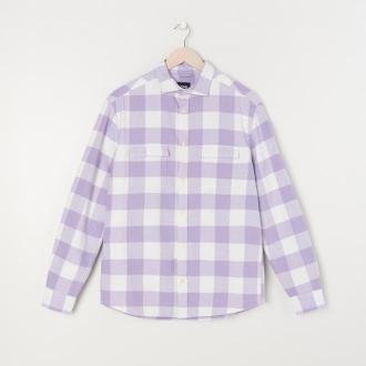 Sinsay - Koszula w kratę comfort fit - Fioletowy