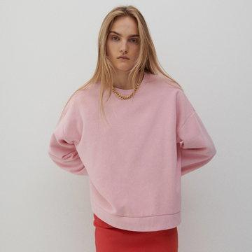 Reserved - Miękka bluza oversize - Różowy