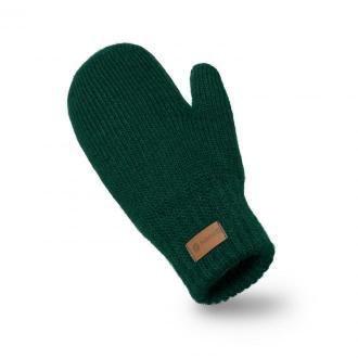 Zielone rękawiczki damskie z jednym palcem