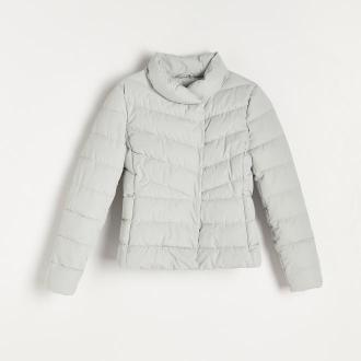 Reserved - Pikowana kurtka ze stójką - Niebieski